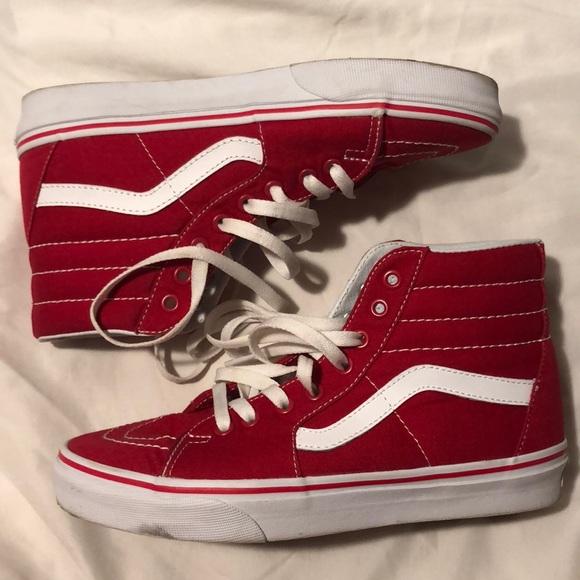 f82944fc9e Sk8-Hi formula one red vans